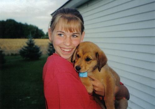 Eva and Puppy Kaiti