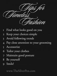 Tips for Timeless Fashion